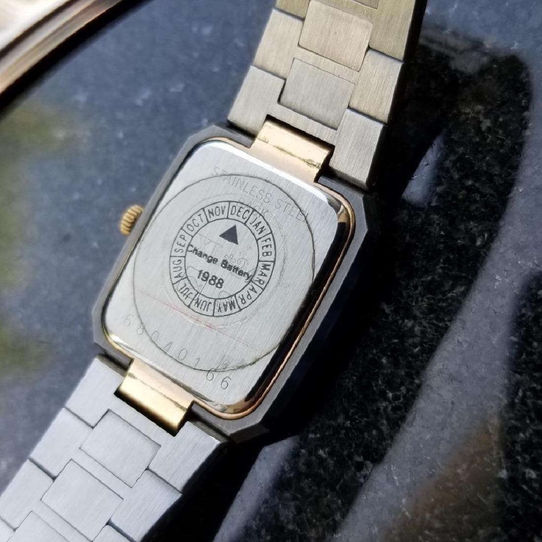 Longines Ladies 1980s Gold Plated Stainless Quartz - 8