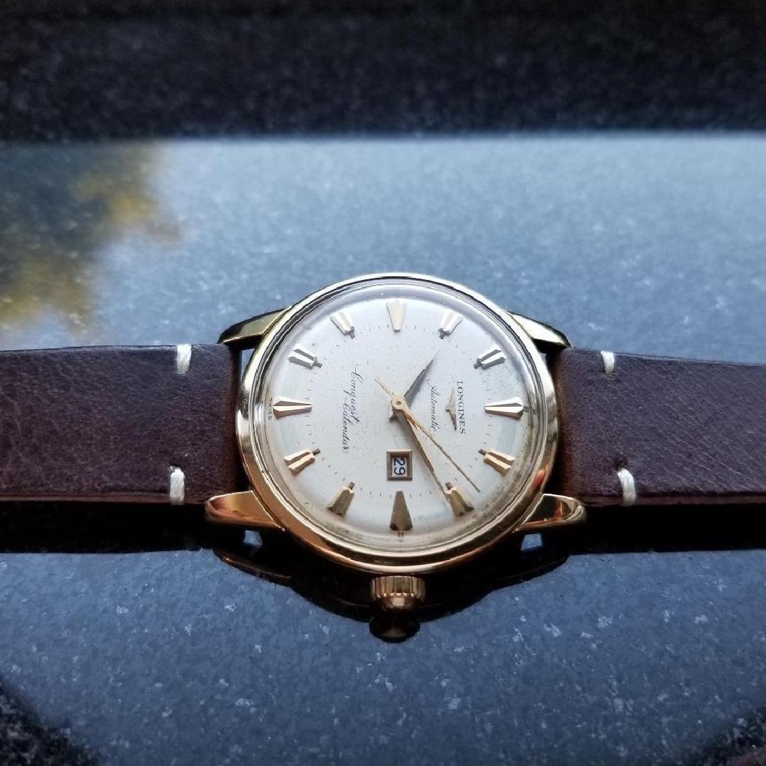 Longines Conquest Calendar Automatic Vintage 18k Gold - 4