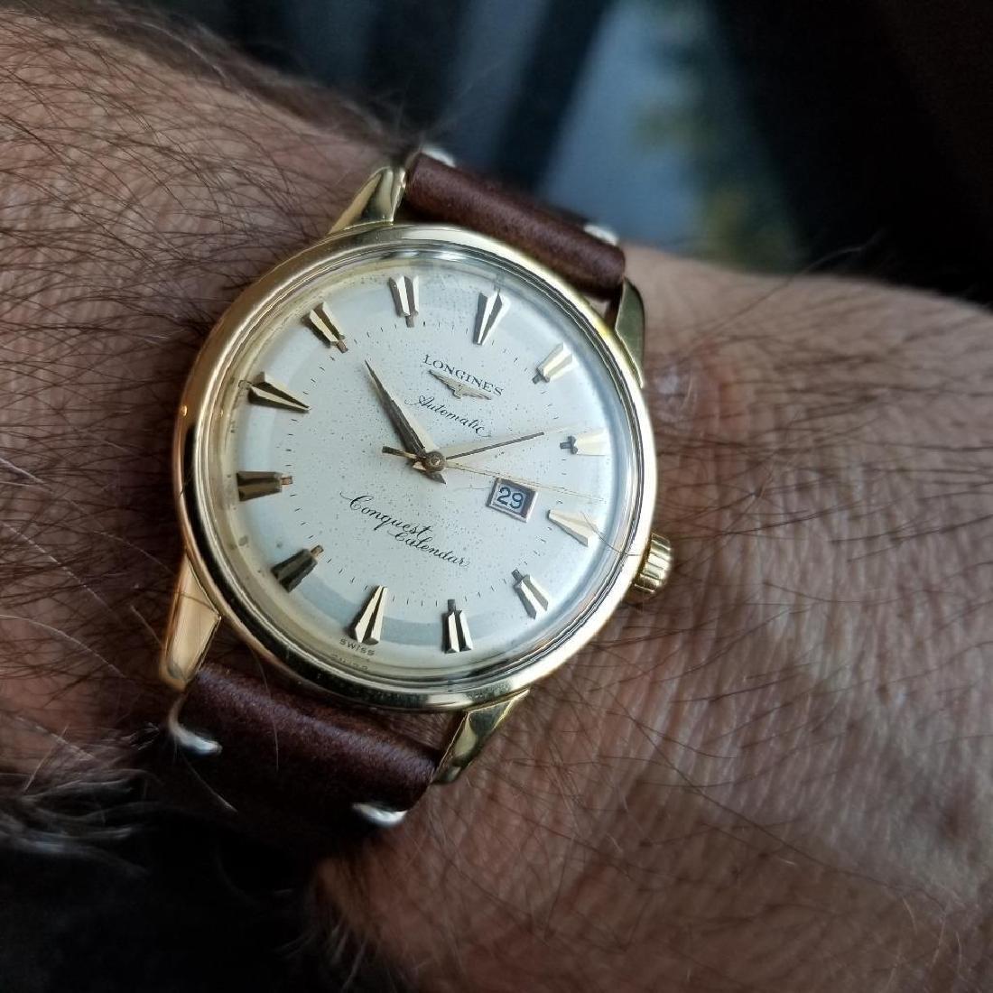Longines Conquest Calendar Automatic Vintage 18k Gold - 9
