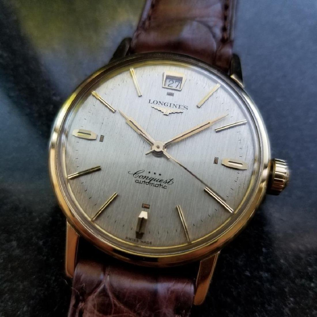 Longines Conquest Automatic Vintage 18k Yel Gold 1960s