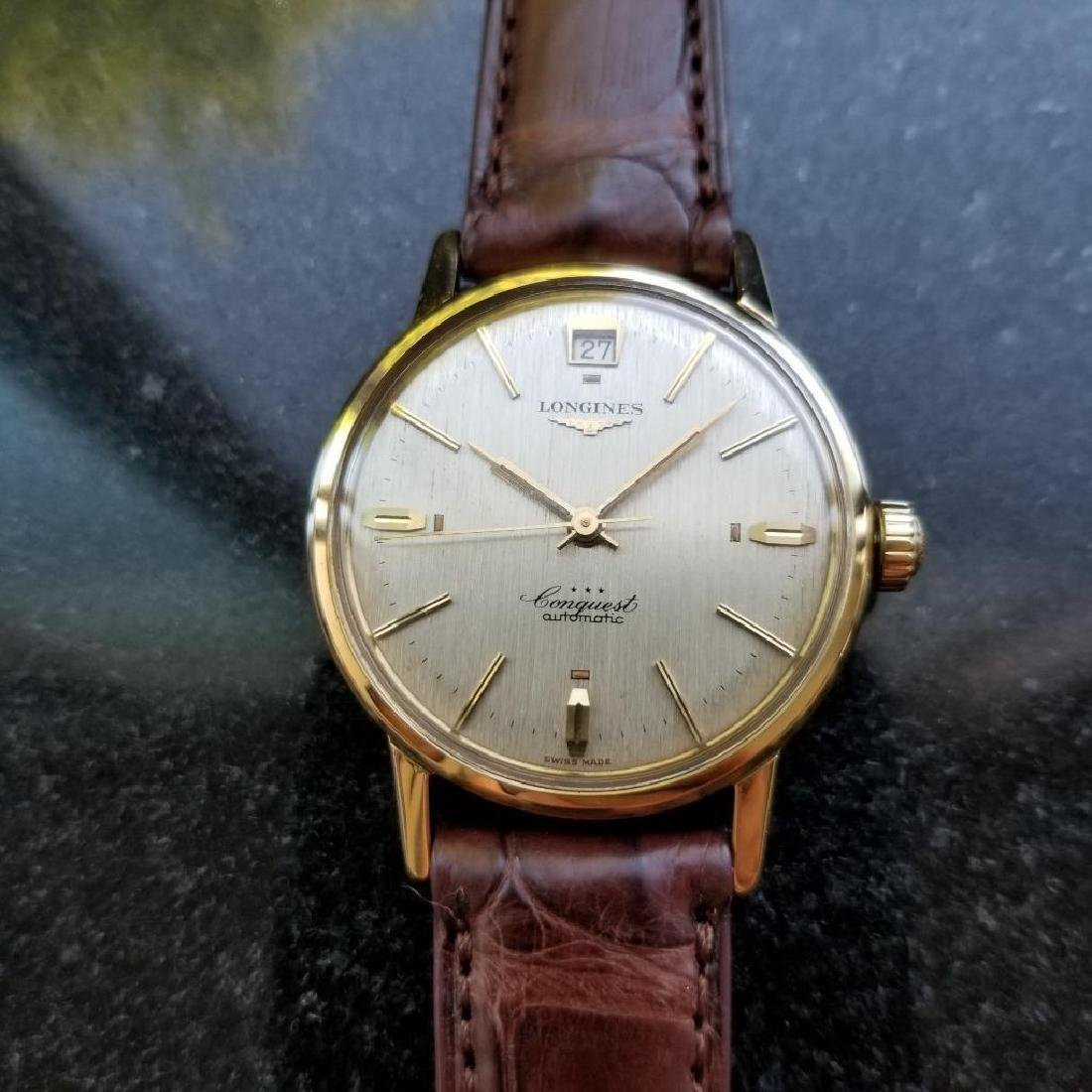 Longines Conquest Automatic Vintage 18k Yel Gold 1960s - 2