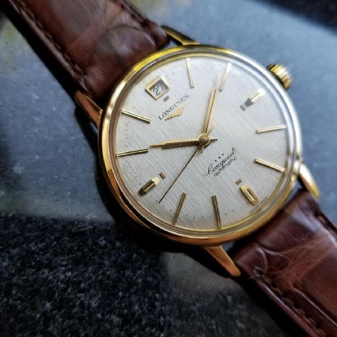 Longines Conquest Automatic Vintage 18k Yel Gold 1960s - 4