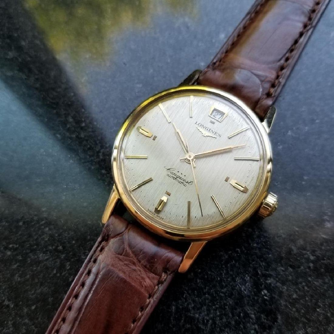 Longines Conquest Automatic Vintage 18k Yel Gold 1960s - 5