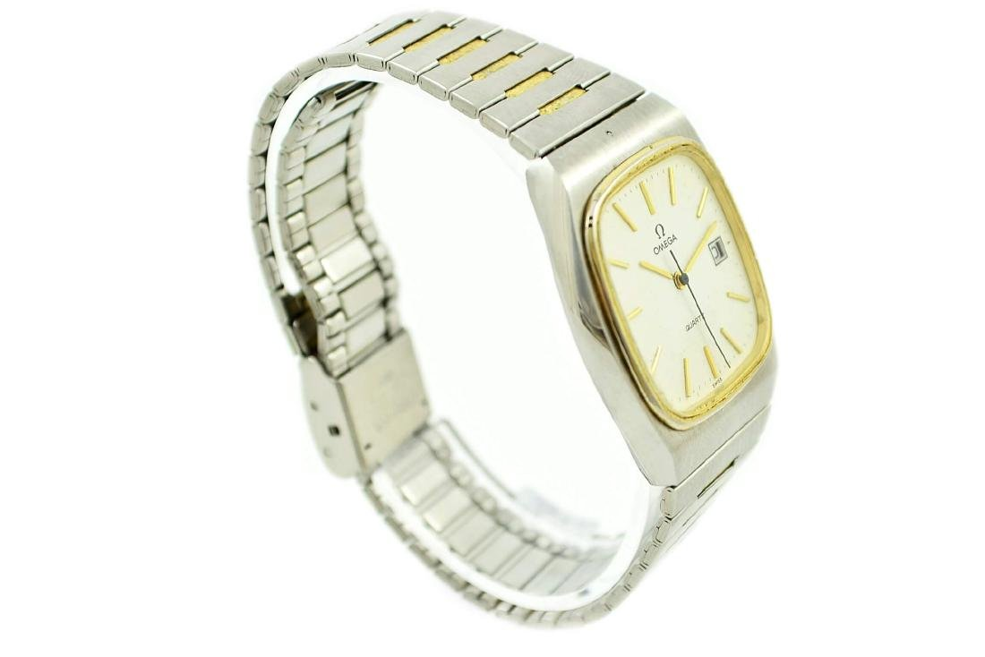 Vintage Omega Quartz Stainless Steel Two Tone Mens - 2