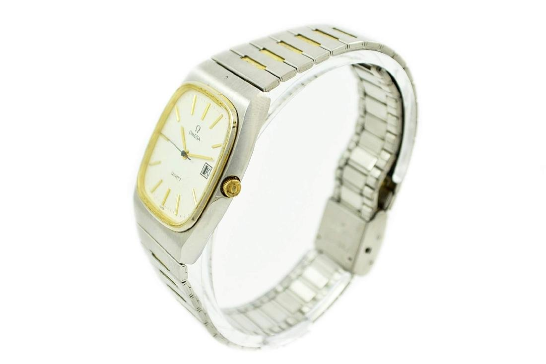 Vintage Omega Quartz Stainless Steel Two Tone Mens - 3
