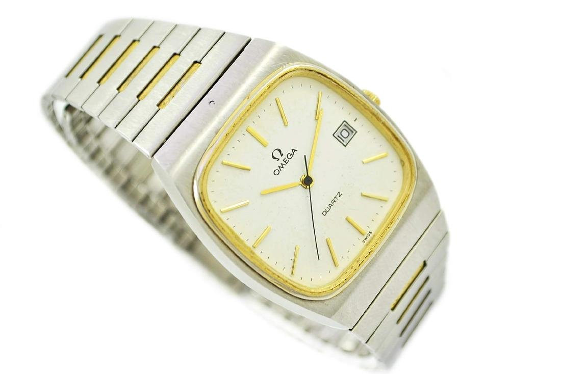 Vintage Omega Quartz Stainless Steel Two Tone Mens - 7