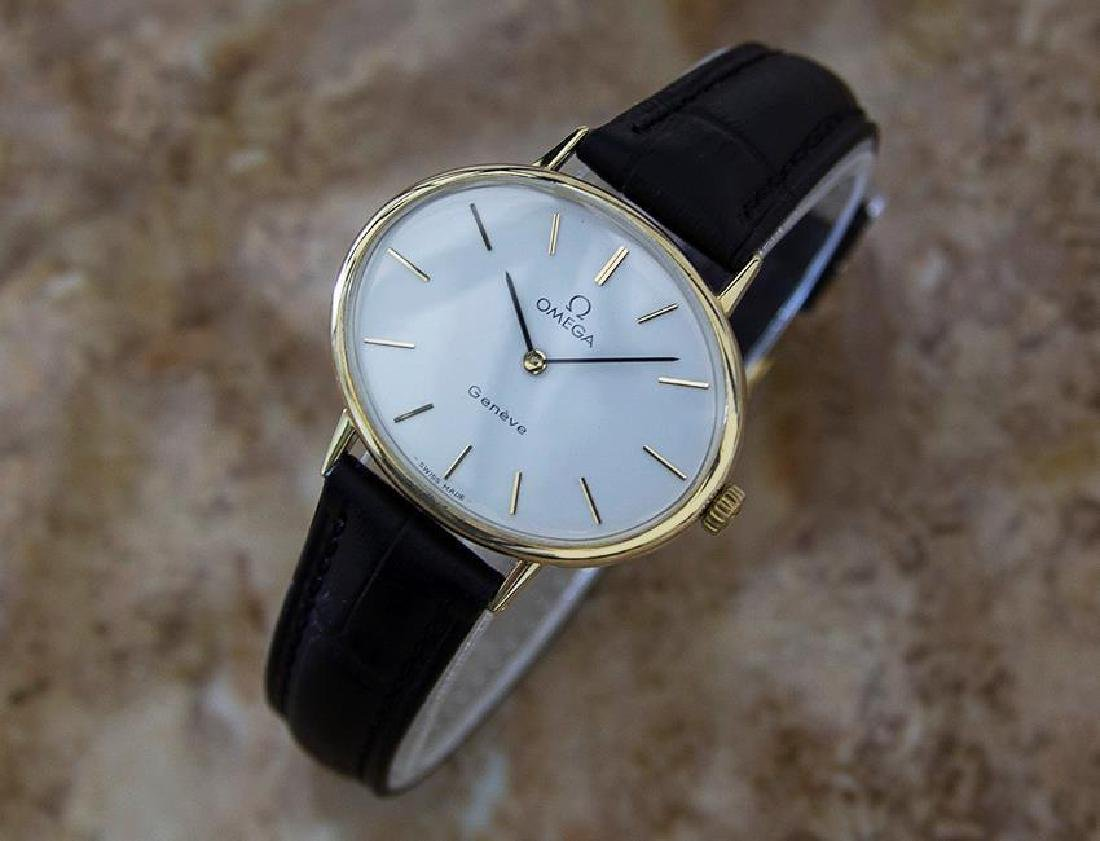 Omega Geneve Swiss Made 1970s Unisex Rare Gold Plated - 2