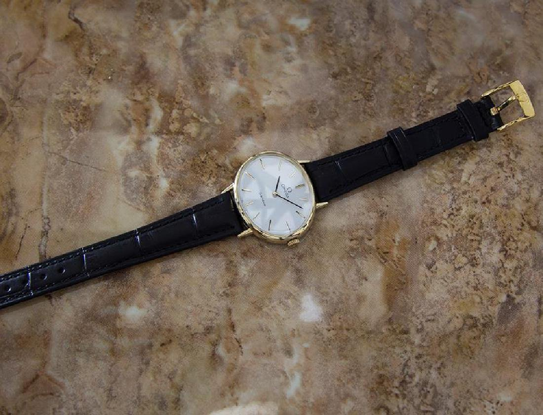 Omega Geneve Swiss Made 1970s Unisex Rare Gold Plated - 5