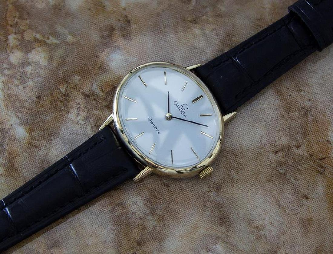 Omega Geneve Swiss Made 1970s Unisex Rare Gold Plated - 6