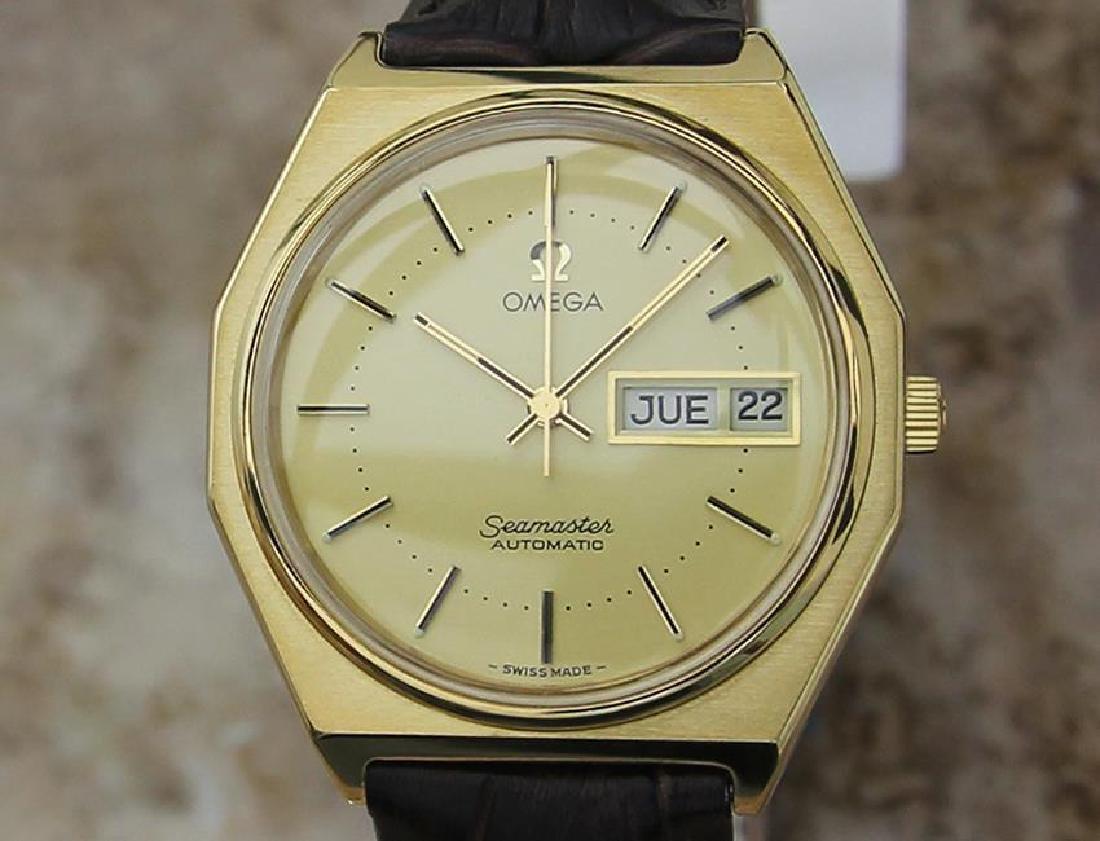 Omega Seamaster Gold Plated Rare Swiss Auto 36mm