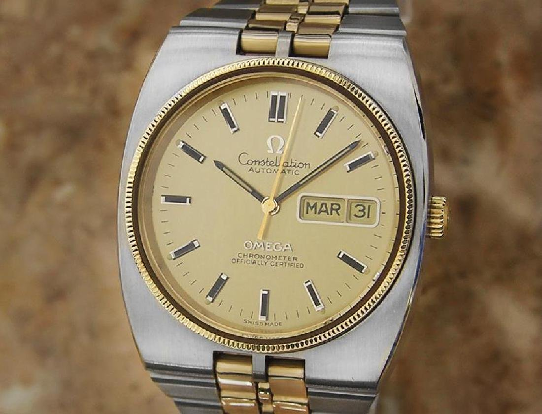 Omega Constellation 36mm Automatic Gold and Steel