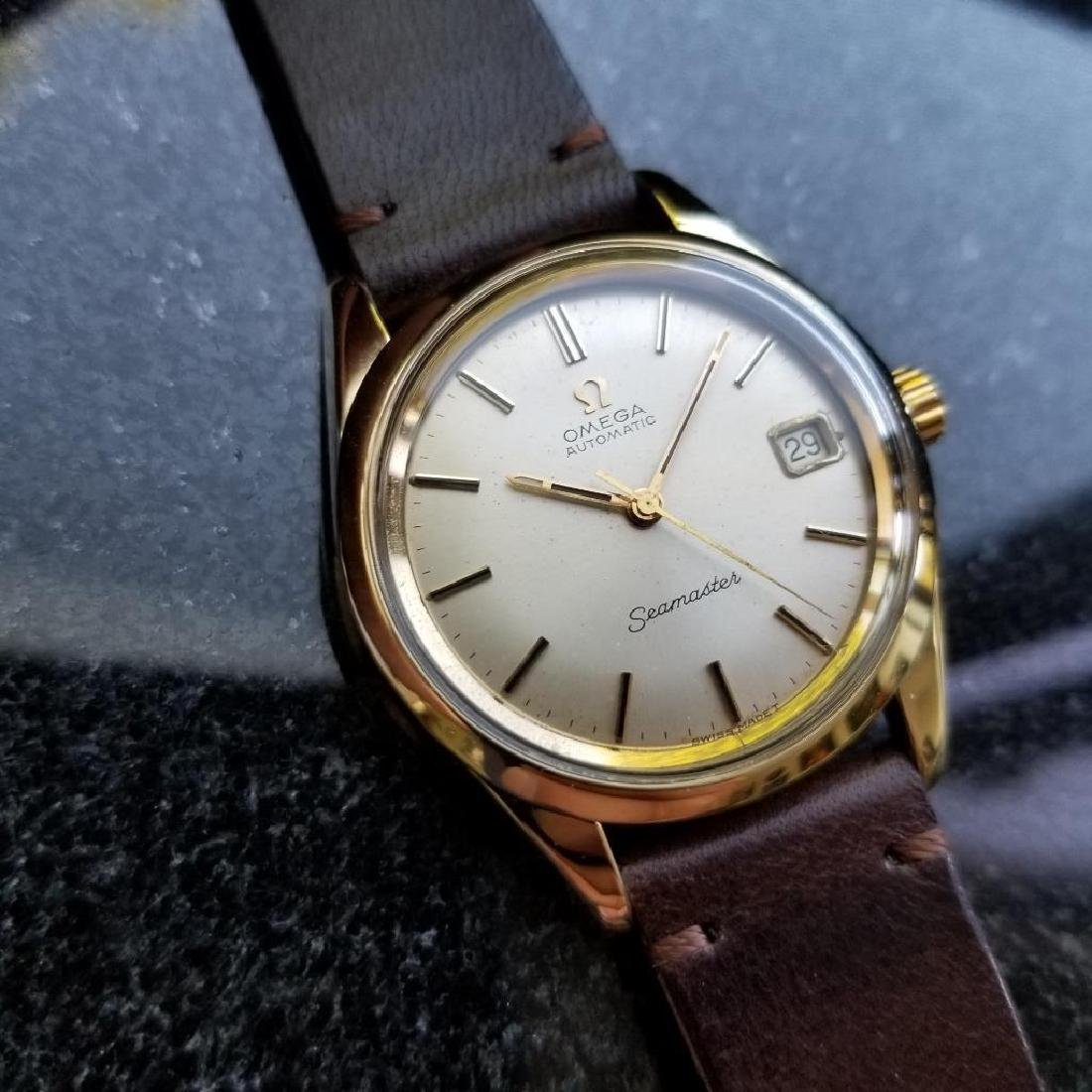 Omega Seamaster Vintage 1970s Gold Capped Swiss 35mm - 2