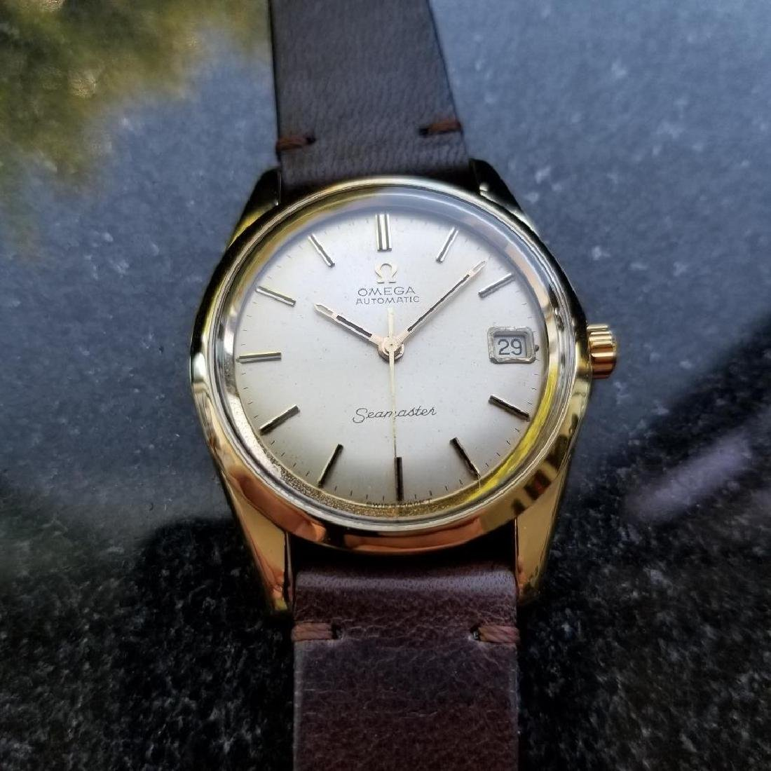 Omega Seamaster Vintage 1970s Gold Capped Swiss 35mm - 3