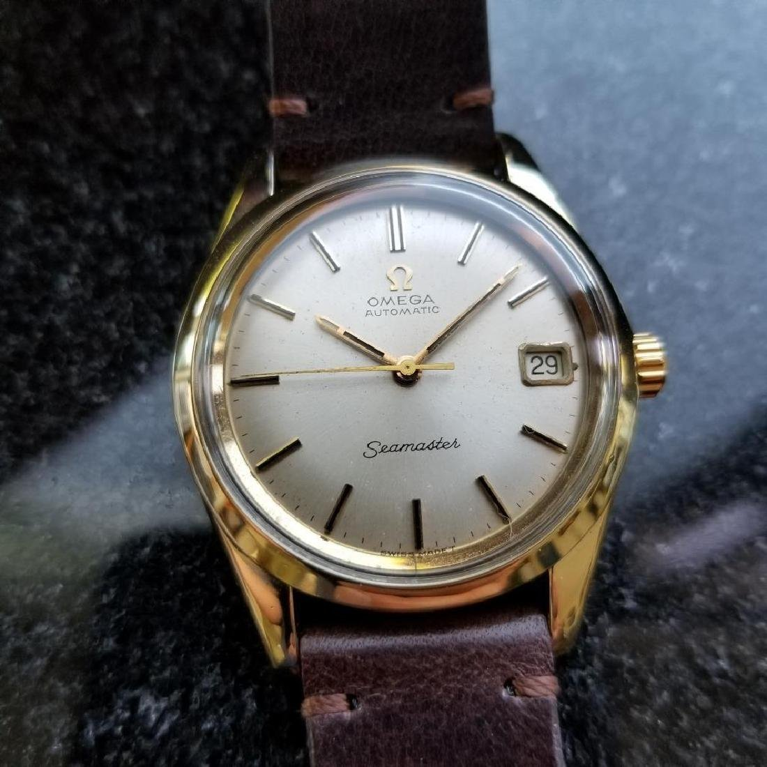 Omega Seamaster Vintage 1970s Gold Capped Swiss 35mm - 4