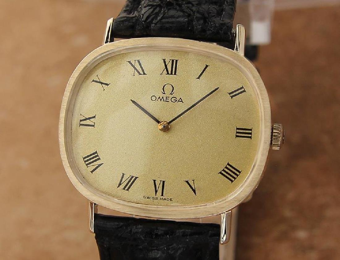 Omega Swiss Made Men's 14k Solid Gold 1970s Manual 33mm