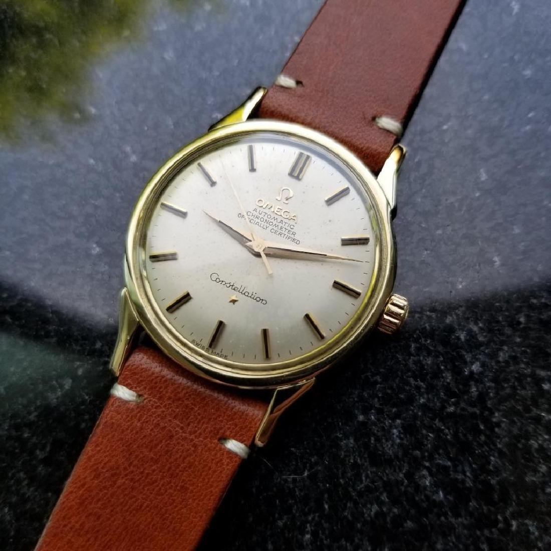 Omega Vintage Constellation Automatic 1960s Gold Cappd