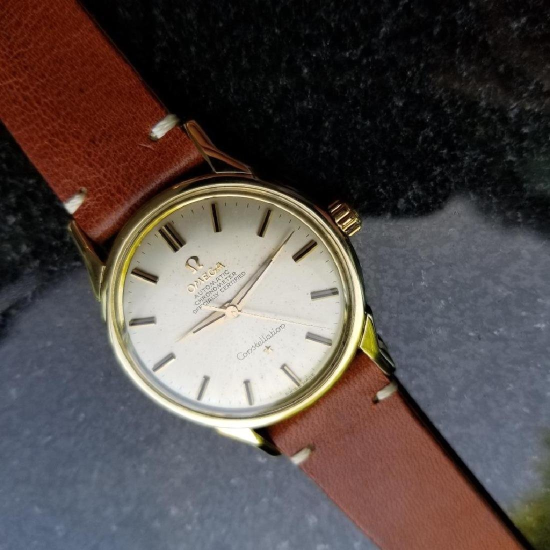 Omega Vintage Constellation Automatic 1960s Gold Cappd - 3