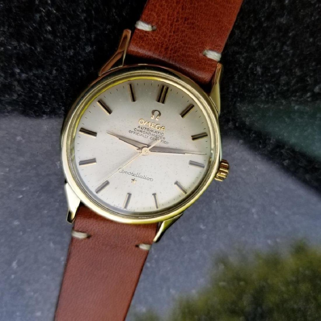 Omega Vintage Constellation Automatic 1960s Gold Cappd - 4