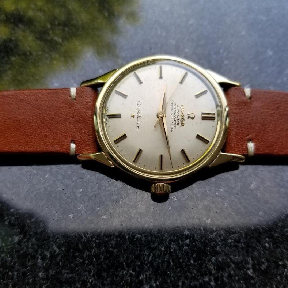 Omega Vintage Constellation Automatic 1960s Gold Cappd - 5
