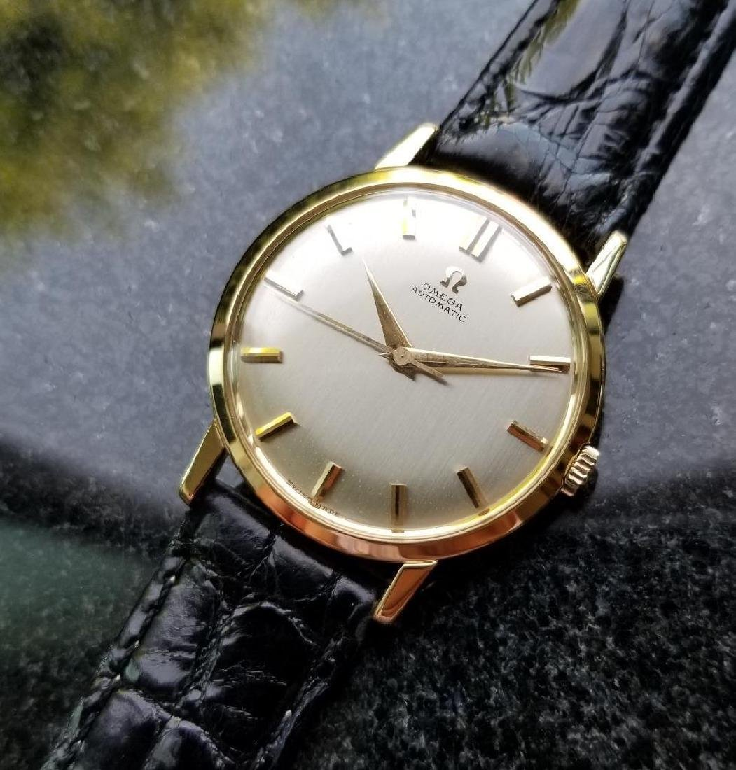 Omega Automatic Vintage 1970s Solid 18k Gold Swiss 34mm