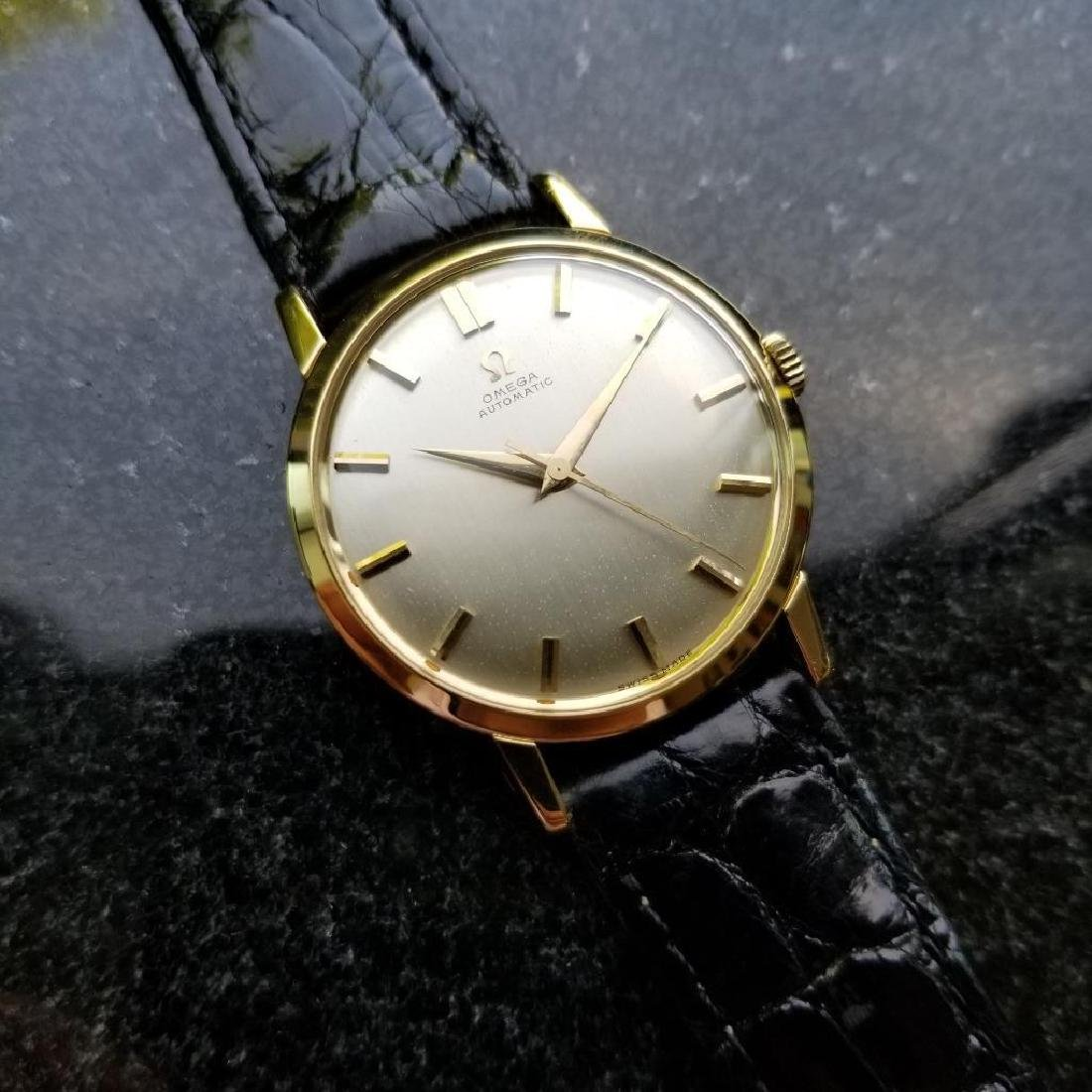 Omega Automatic Vintage 1970s Solid 18k Gold Swiss 34mm - 2