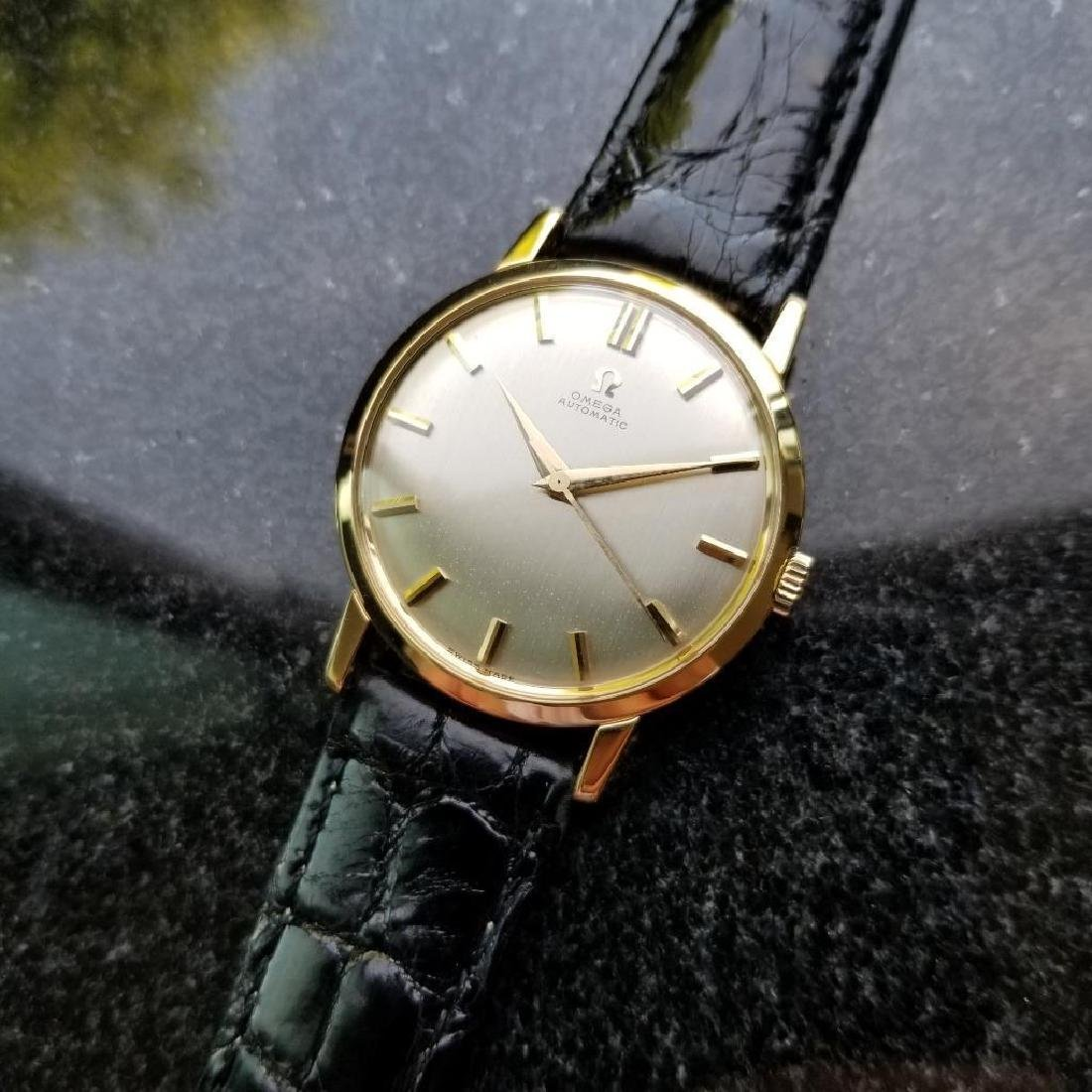 Omega Automatic Vintage 1970s Solid 18k Gold Swiss 34mm - 3