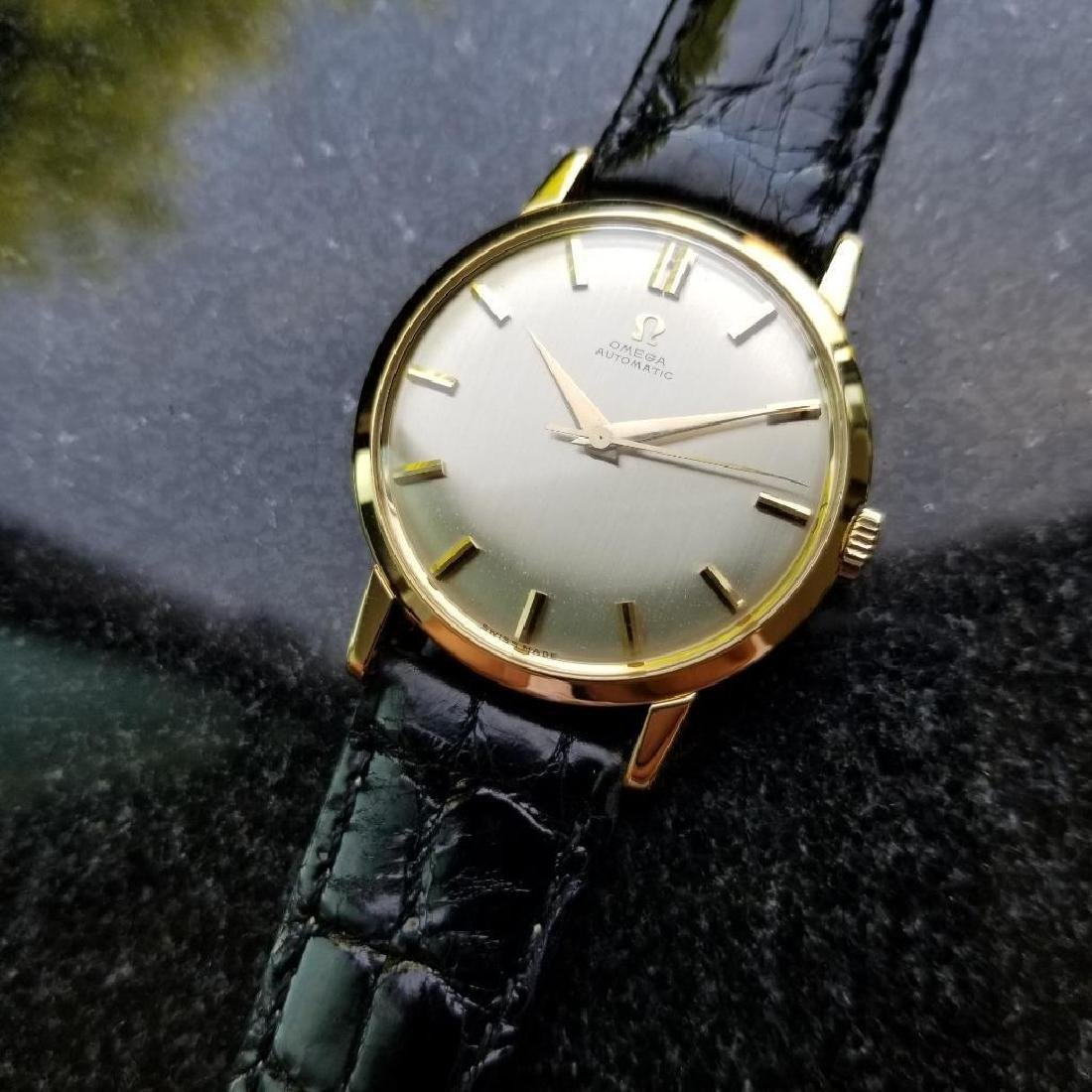 Omega Automatic Vintage 1970s Solid 18k Gold Swiss 34mm - 4
