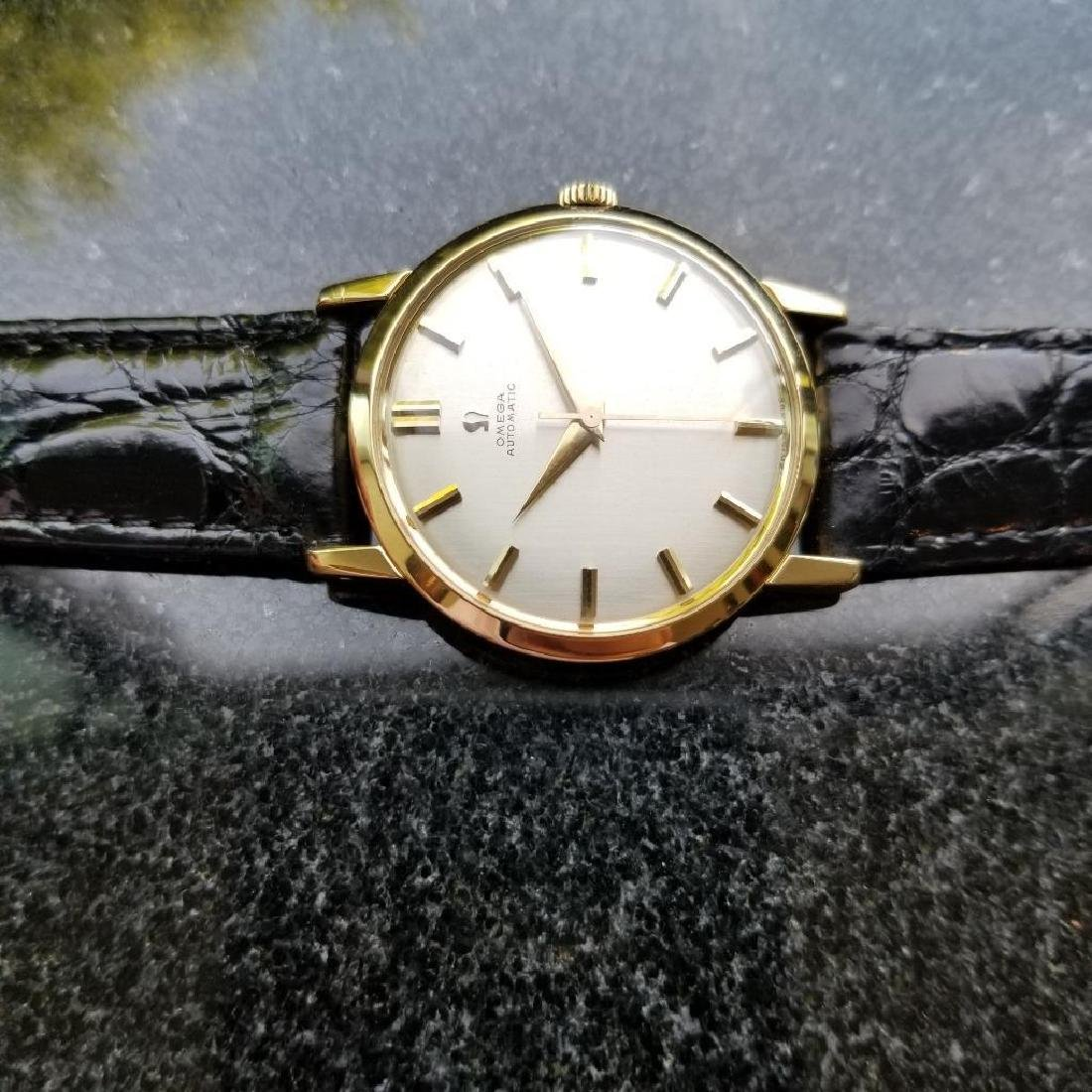 Omega Automatic Vintage 1970s Solid 18k Gold Swiss 34mm - 5