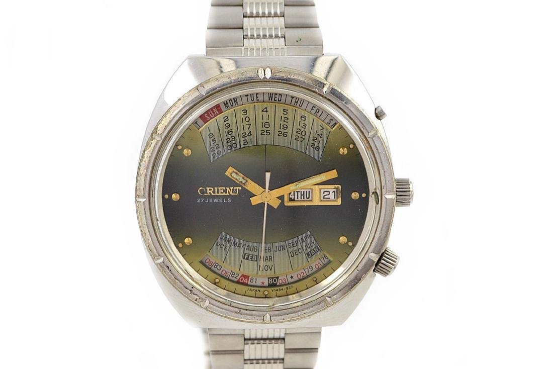 Vintage Orient Multi Year Calendar Automatic Stainless