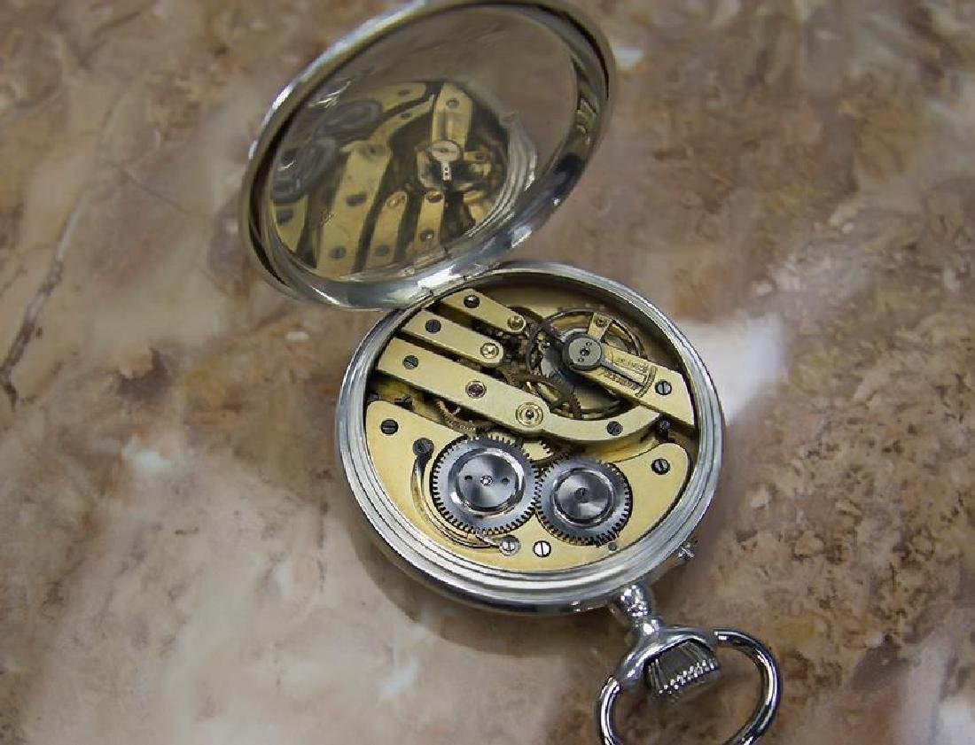 Pocket Watch 61mm Sterling Silver 925 Swiss Made Manual - 7