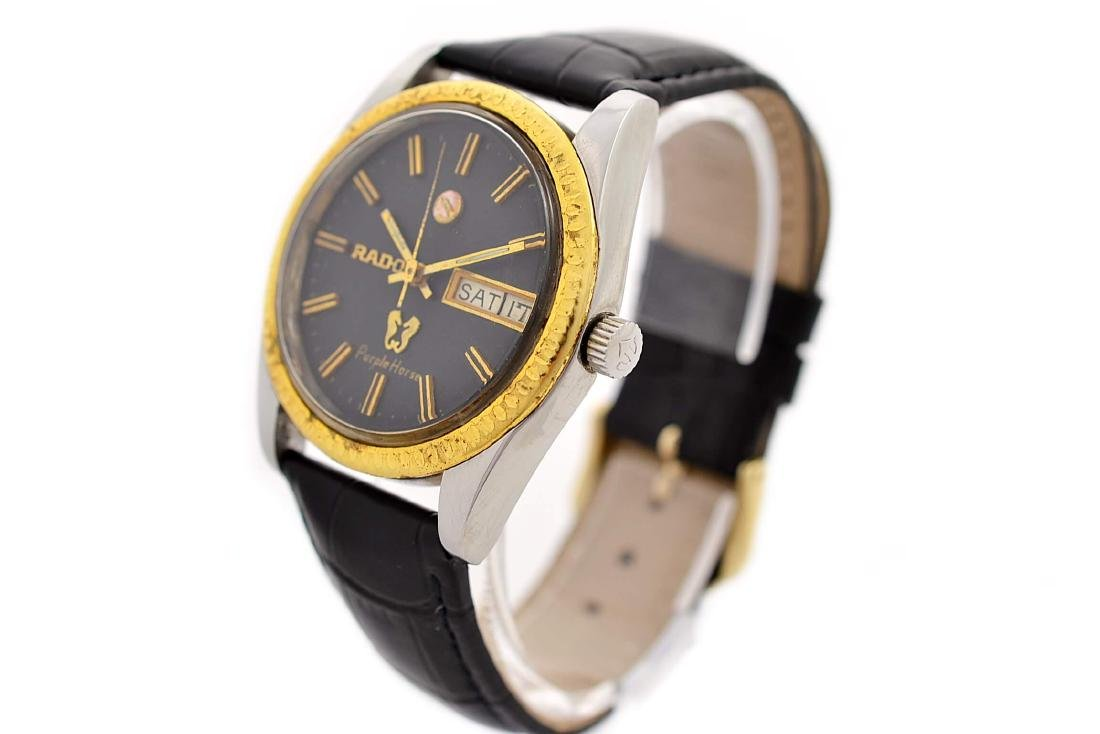 Rado Purple Horse Stainless Steel Automatic Mens Watch - 5