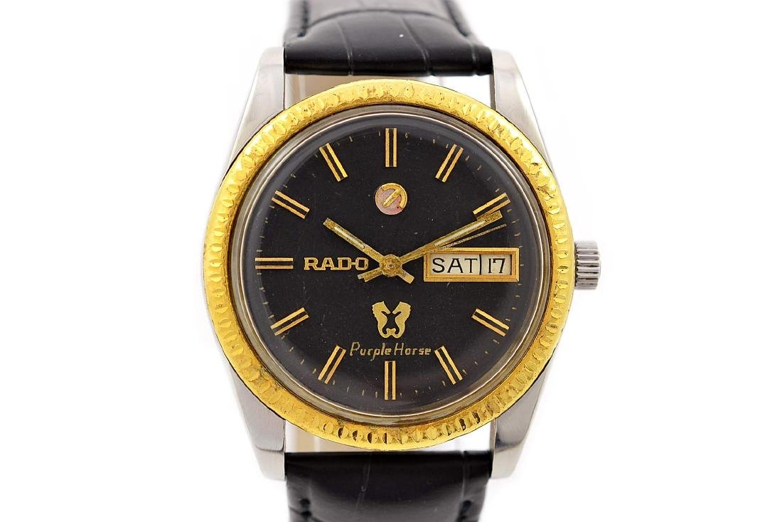 Rado Purple Horse Stainless Steel Automatic Mens Watch - 6