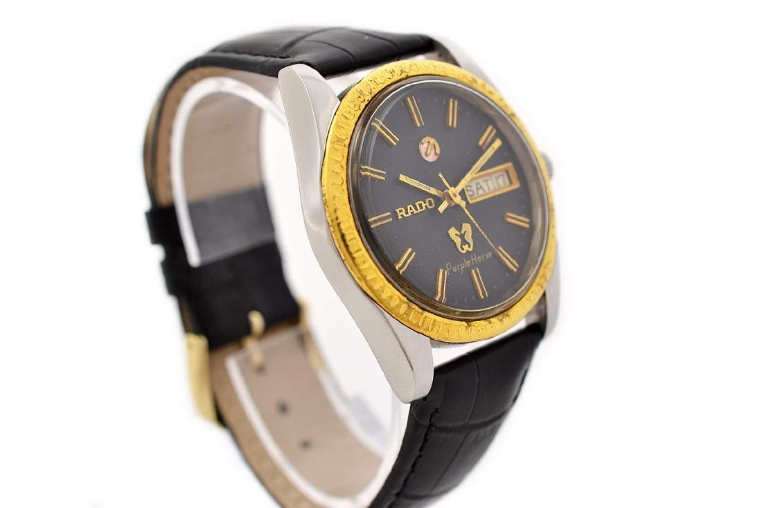 Rado Purple Horse Stainless Steel Automatic Mens Watch - 7