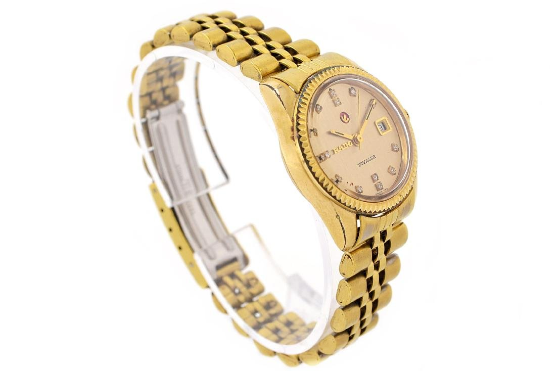 Vintage Rado Voyager Gold Plated Automatic Ladies - 2