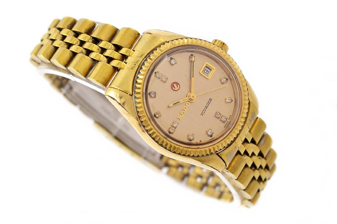Vintage Rado Voyager Gold Plated Automatic Ladies - 3