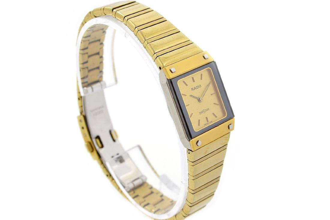 Vintage Rado Diastar Gold Plated Quartz Ladies Watch - 2