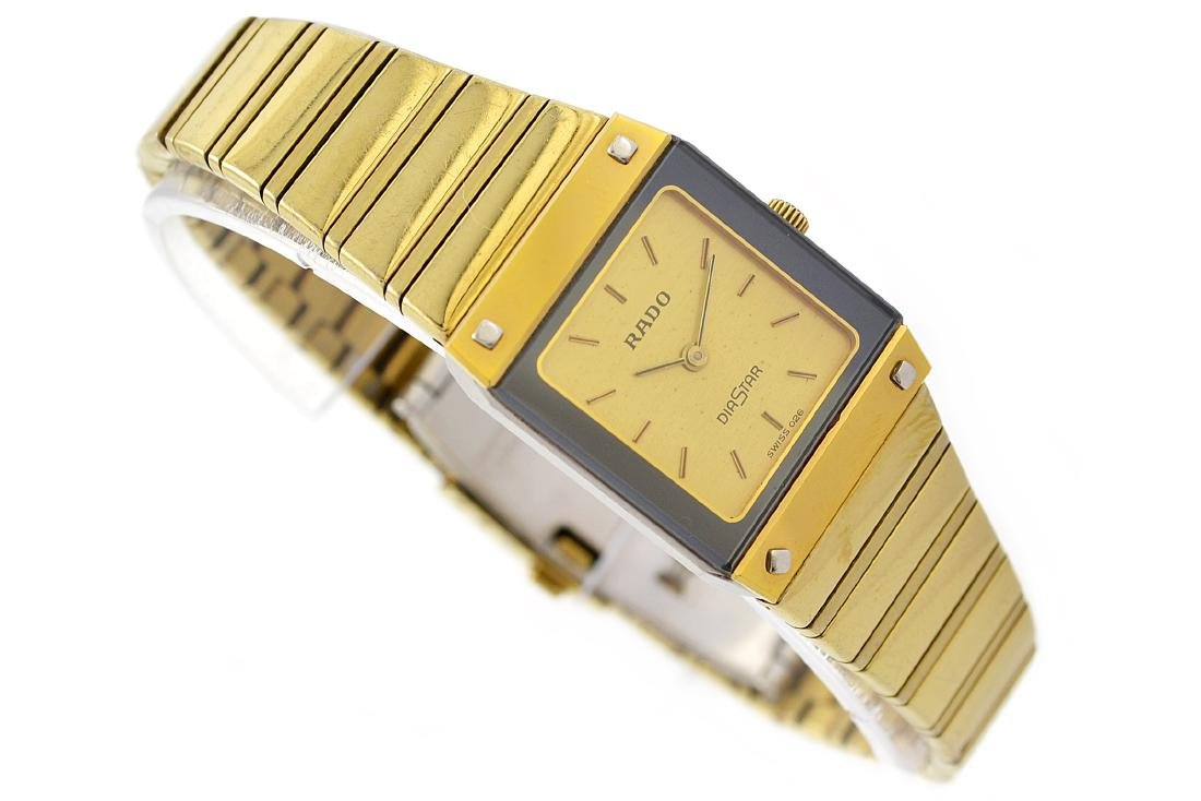 Vintage Rado Diastar Gold Plated Quartz Ladies Watch - 3