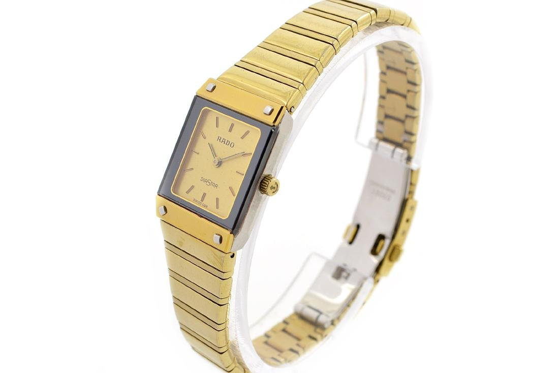 Vintage Rado Diastar Gold Plated Quartz Ladies Watch - 7
