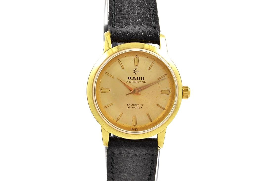Vintage Rado Hand Winding Distinction Gold Plated