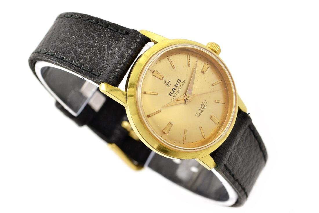 Vintage Rado Hand Winding Distinction Gold Plated - 3