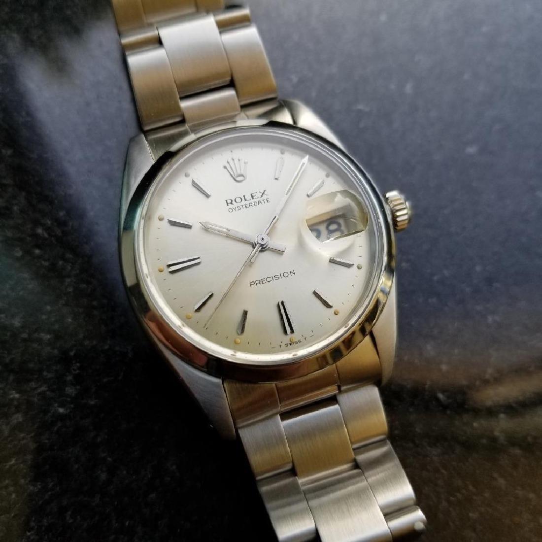 Rolex Vintage Precision Oysterdate 1954 6694 Manual - 4