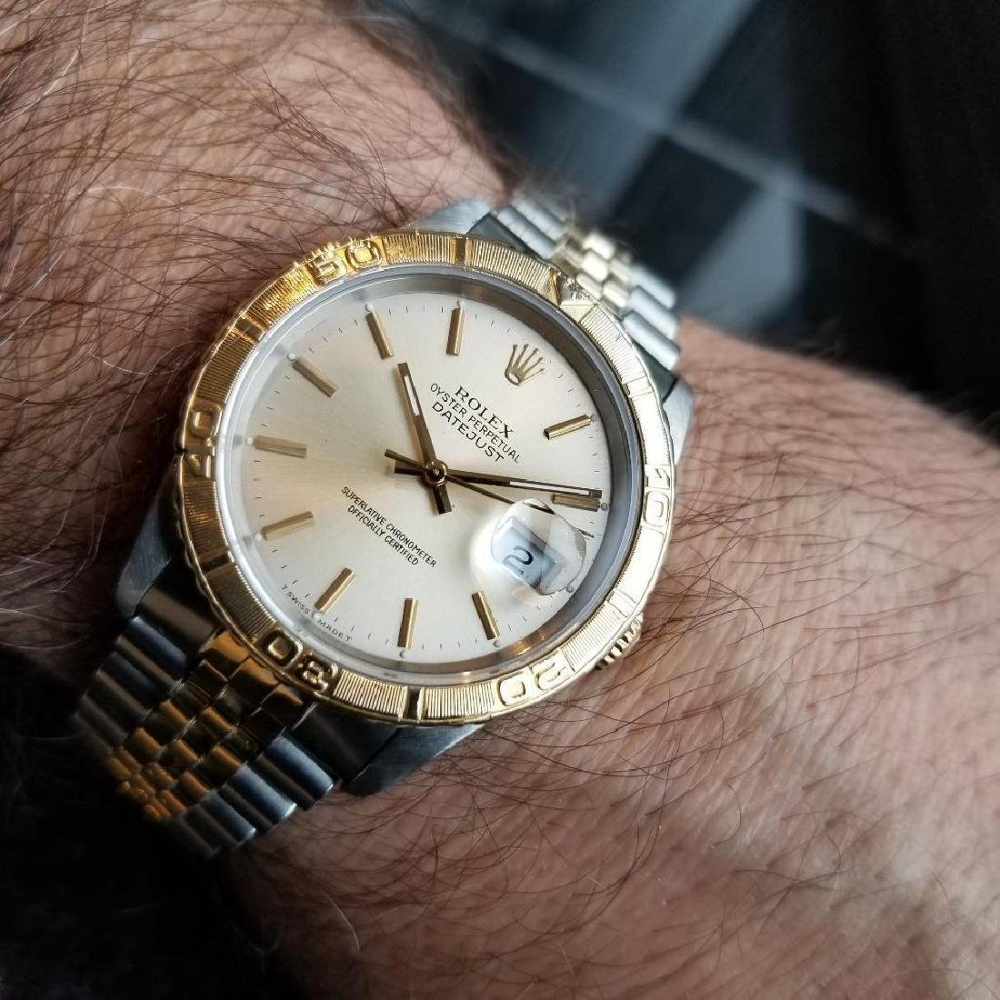Rolex 1990 Oyster 162633 Automatic Datejust Men's Gold - 10