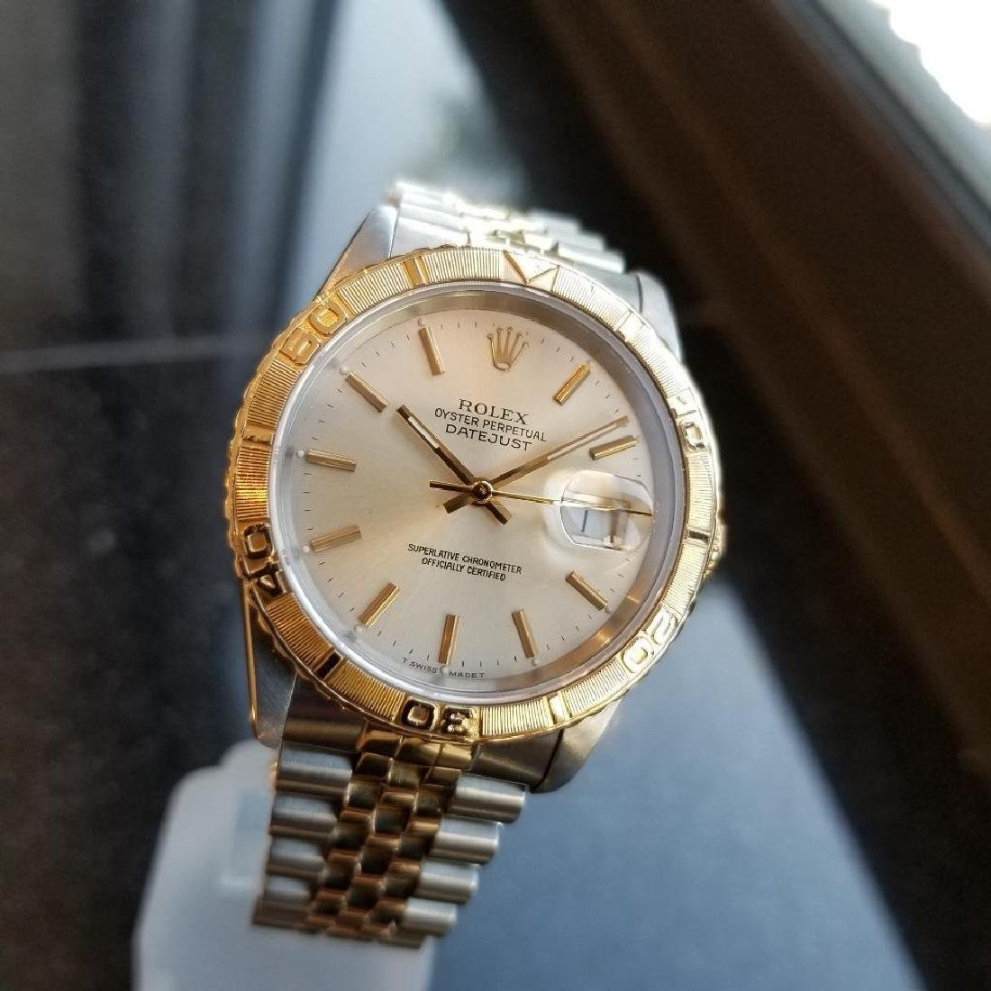 Rolex 1990 Oyster 162633 Automatic Datejust Men's Gold - 4
