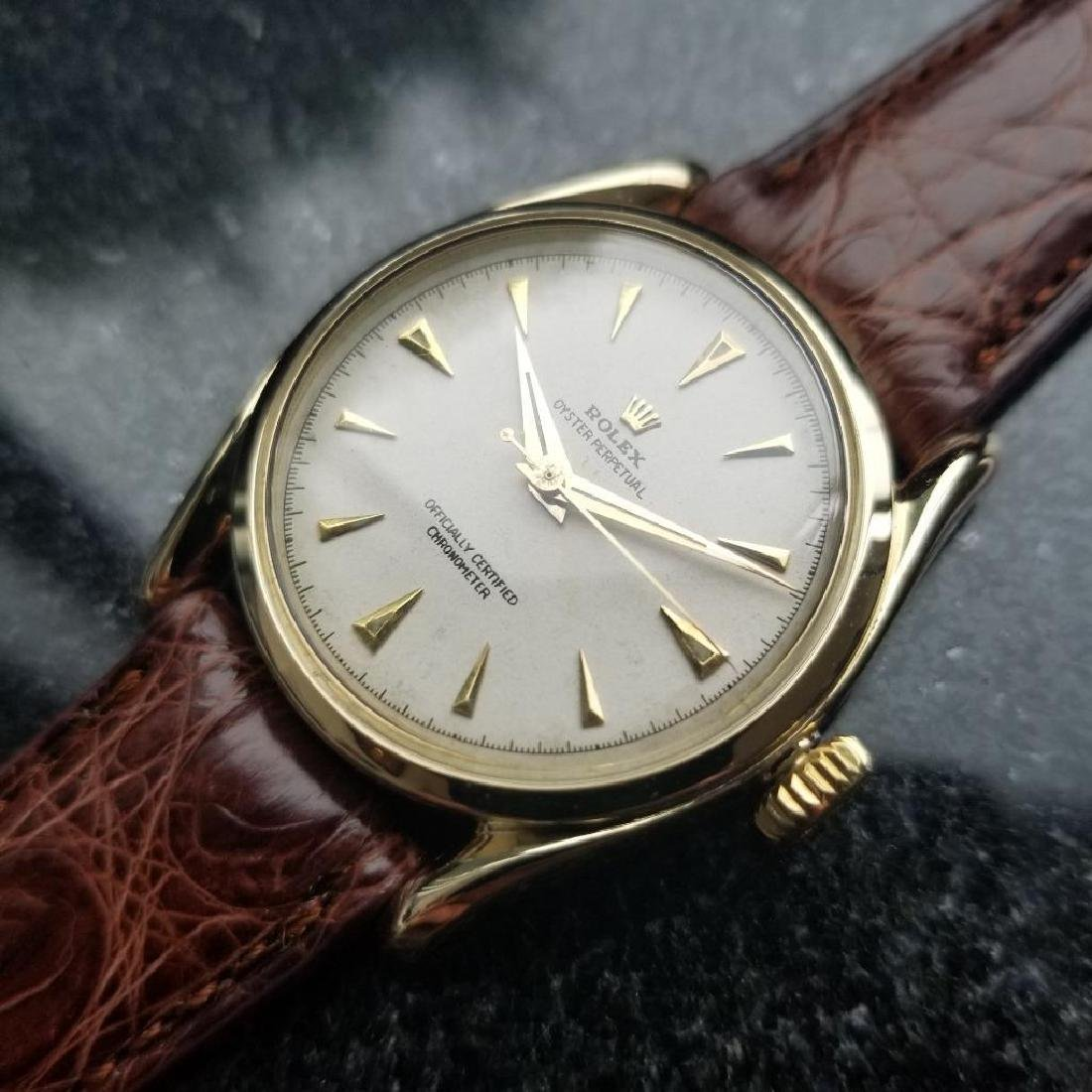 Rolex Oyster Perpetual Vintage 1951 14k Gold 6092 - 2