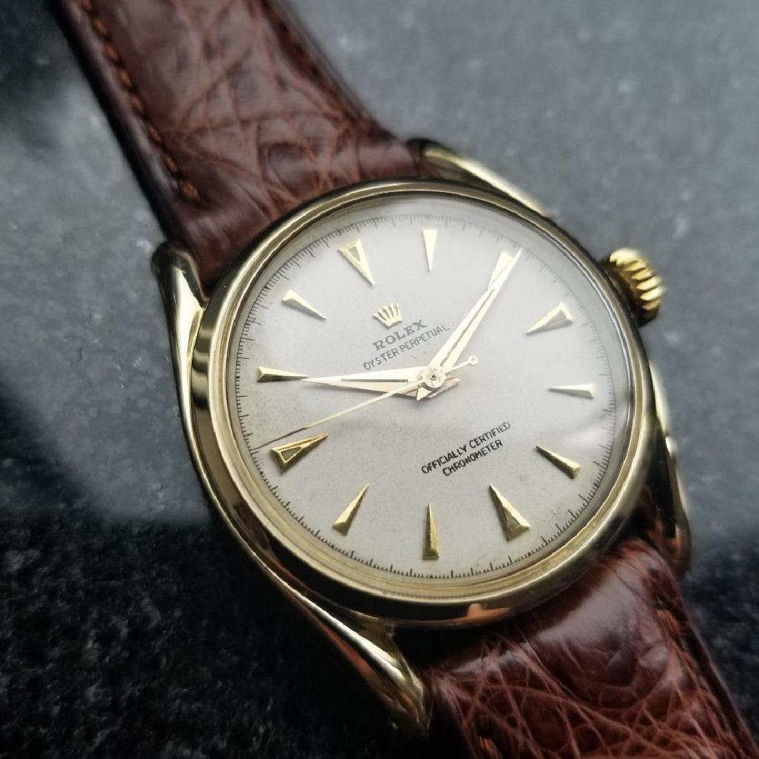 Rolex Oyster Perpetual Vintage 1951 14k Gold 6092 - 3