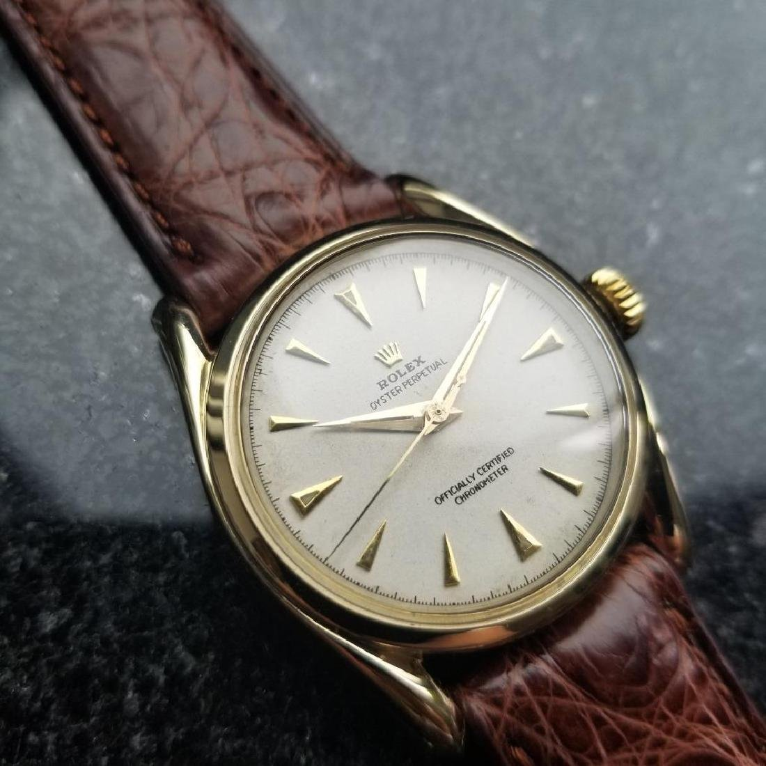 Rolex Oyster Perpetual Vintage 1951 14k Gold 6092 - 4