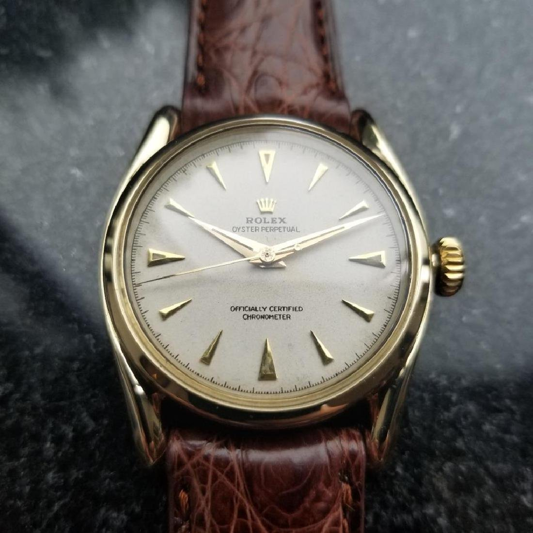 Rolex Oyster Perpetual Vintage 1951 14k Gold 6092 - 5
