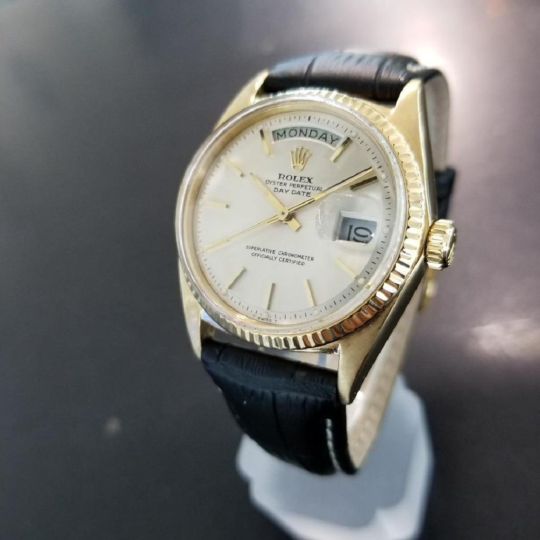 Rolex Vintage Mens 1966 President 1803 Swiss Made 18k - 2