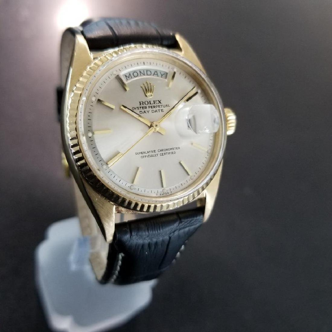 Rolex Vintage Mens 1966 President 1803 Swiss Made 18k - 3