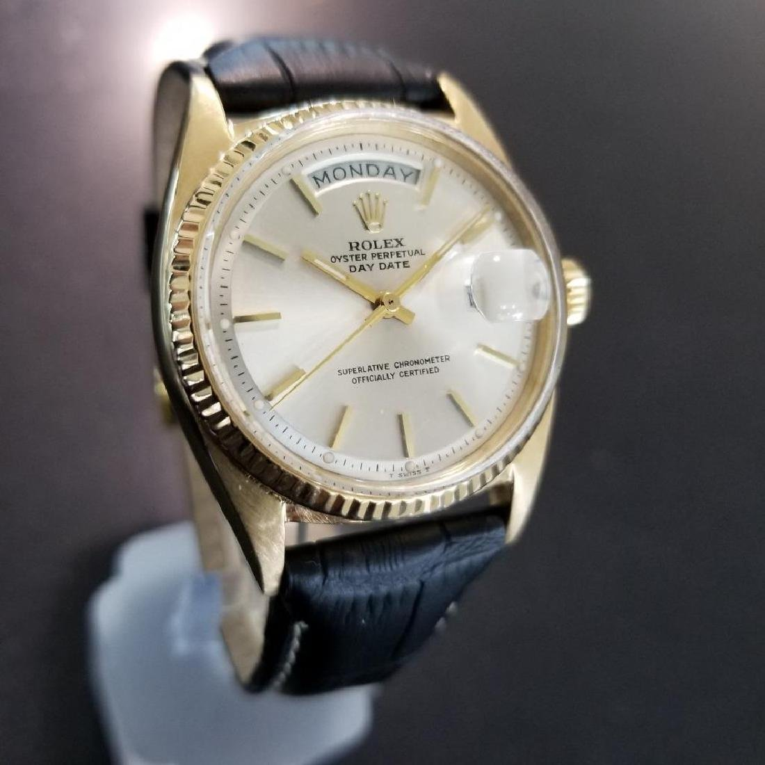 Rolex Vintage Mens 1966 President 1803 Swiss Made 18k - 4